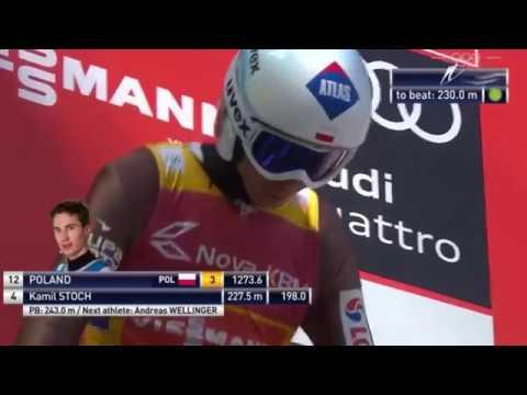 Kamil Stoch nowy rekord Polski Planica 2017