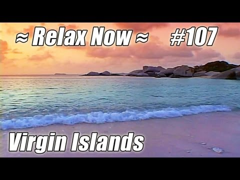VIRGIN GORDA SUNSET The Baths #107 Beaches Ocean Waves sounds British Virgin Islands relaxing video