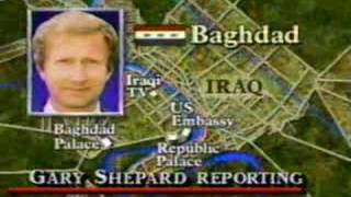 Desert Storm Begins During News Broadcast