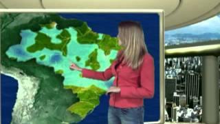 A meteorologista, Nadiara Pereira, da Somar Meteorologia fala como vai estar o tempo hoje e nos próximos dias em todo País. Produção Somar Vídeo.