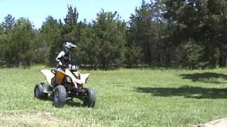 6. Can Am DS 250 Jumping in the Backyard