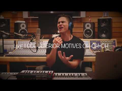Friends & Unforgettable // Alex Aiono Cover (Lyrics) By Justin Bieber And French Montana