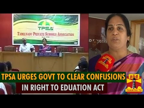 TN Private Schools Association Urges Govt To Clear Confusions In Right to Education Act