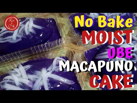 Moist Ube Macapuno Cake | Mix N Cook