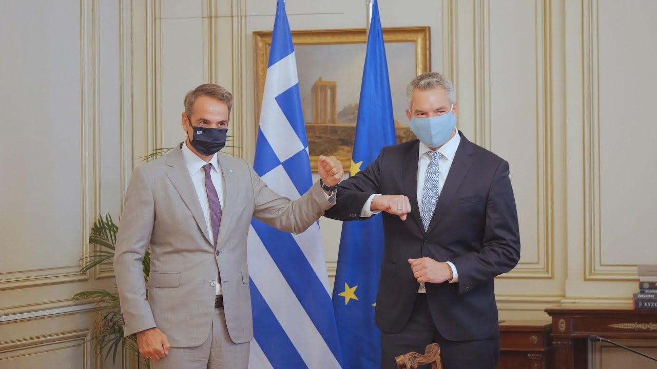 Ανατολική Μεσόγειος και μεταναστευτικό στο επίκεντρο της συνάντησης Μητσοτάκη-Νέχαμερ