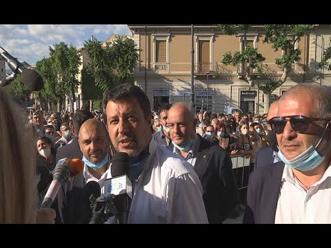 Avezzano - Visita del Leader della Lega Matteo Salvini