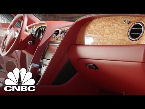 Jay Leno Gets Cuddly With Russell Peters' $195K Bentley Flying Spur | Jay Leno's Garage | CNBC Prime