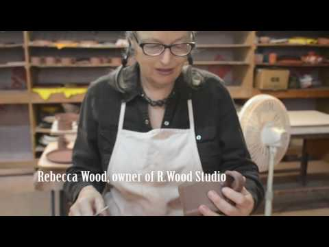 R.Wood Studio in Athens, Georgia demonstrates pottery making