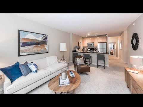 A one-bedroom model apartment in a keystone location at Echelon Chicago