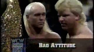 From WCW Saturday Night 4/2/94. Steve Keirn and Bobby Eaton form the tag team known as Bad Attitude