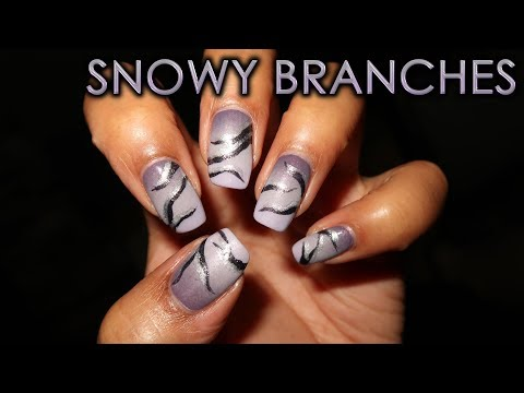 Snowy Branches  12 Days of Christmas Nail Art  DIY Tutorial