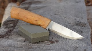 How To Sharpen A Knife At Camp.