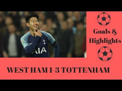 WEST HAM 1 - 3 TOTTENHAM - CARABAO CUP - HIGHLIGHTS - GOALS - SKILLS