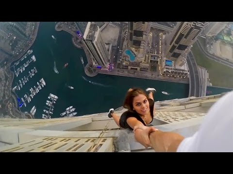 A Compilation of Insane Urban Climbing Stunts