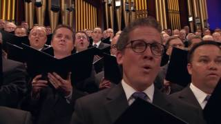 "The Mormon Tabernacle Choir sings, ""I'll Follow Him in Faith."""