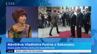Ruský prezident Vladimir Putin na návštěvě Rakouska
