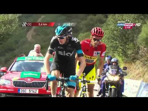 Vuelta A Espana 2014  Stage 16   FINAL KILOMETERS