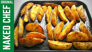 How to make chunky potato wedges, simple but tasty recipe & baked in the oven. Great alternative to chips. Go make some tasty...