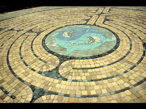 Walking the Labyrinth at Edgar Cayces A.R.E. in Virginia Beach, VA