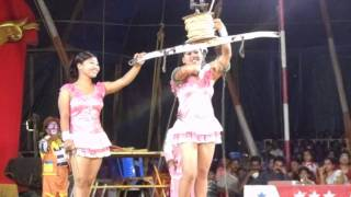 Thrissur India  city photo : Acrobatic Jumbo Circus F - Whirling Ladies Part 1 - Thrissur, India Jan2012