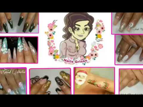Decorados de uñas - Uñas esculturales con decoración en gel polish