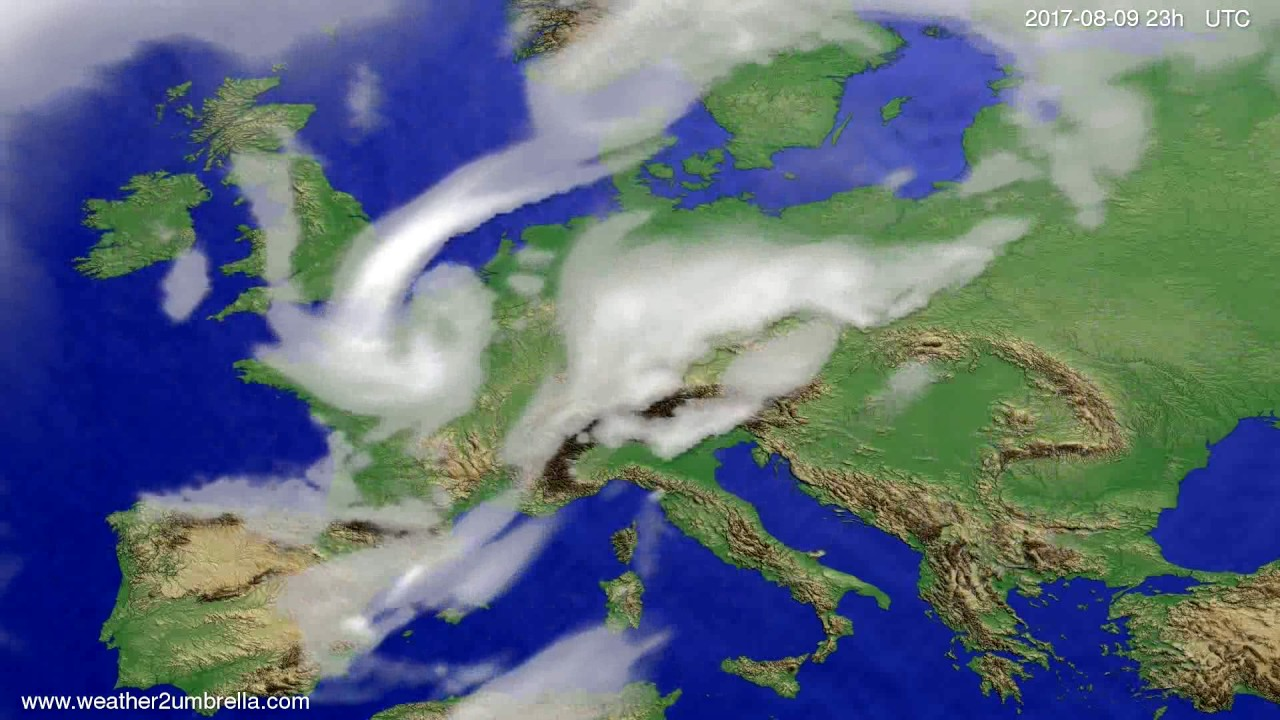 Cloud forecast Europe 2017-08-06