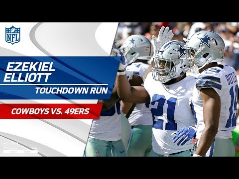 Video: San Fran Fumbles Punt Leading to Ezekiel Elliott's Big TD Blast! | Cowboys vs. 49ers | NFL Wk 7