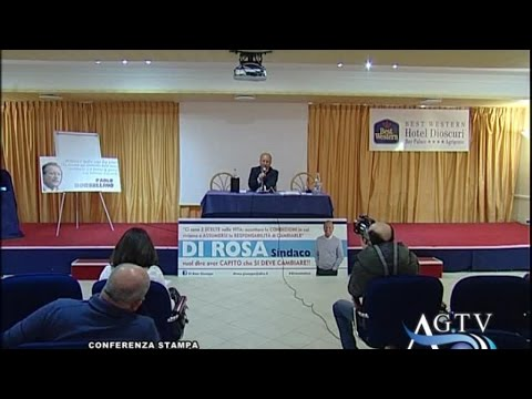 Conferenza del candidato sindaco di Agrigento Giuseppe Di Rosa 10-04-2015