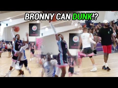 Bronny James Pulls First IN GAME DUNK!? LeBron's Son Already Has CRAZY BOUNCE 😱