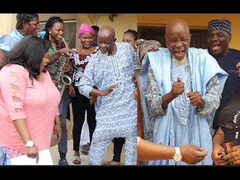 95 yrs Actor Baba Agbako Dance Like A Young Boy As Foluke Daramola,Yomi SURPRISE Him On His BIRTHDAY