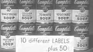 """Rare video for """"Donna Reed Show"""" promoting soup mugs and soup bowls. Help us caption & translate this video!"""