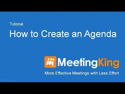 Video Create Agenda with MeetingKing