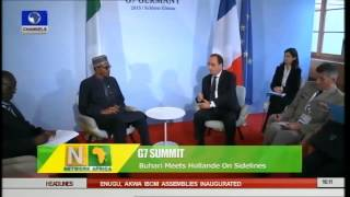 Buhari Meets Hollande On Sidelines Of G7 Summit