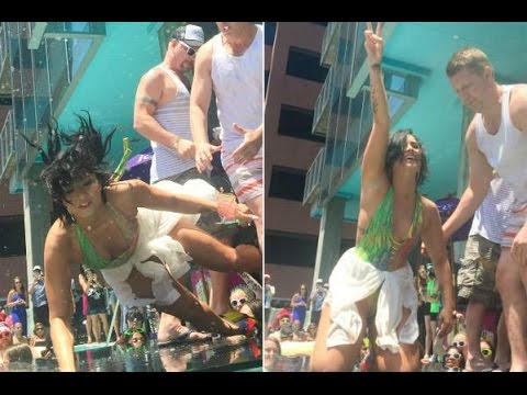 Demi Lovato Falls at 'Cool for the Summer' Pool Party .NOT #CoolForTheSummer