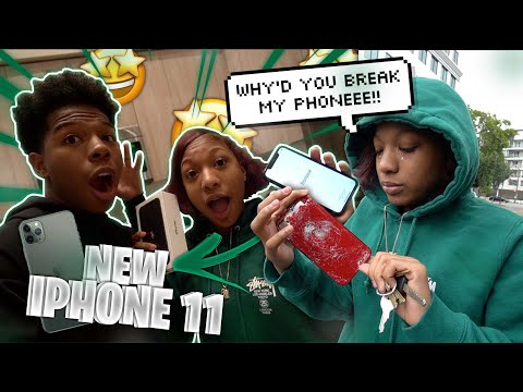 I BROKE MY SISTERS IPHONE AND SURPRISED HER WITH THE IPHONE 11! *She Cried*
