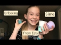 Unboxing Slime From Etsy!| Kelsey's Videos