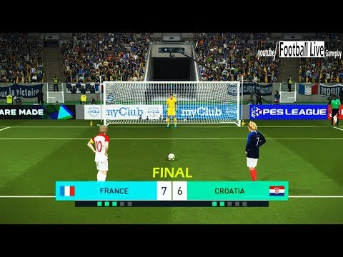 PES 2018 | FRANCE vs CROATIA | Penalty Shootout | FINAL World Cup Konami | Gameplay PC