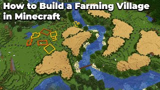 How to build an AWESOME Farming Village in Minecraft 1.15 Survival WORLD DOWNLOAD