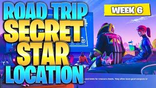 "Fortnite Battle Royale Season 5 Week 6 Secret Battlestar Location (""Road Trip"" Challenges)"