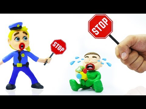 SUPERHERO BABY STOPS POLICE PROFESSION PRETEND PLAY 💖 Play Doh Cartoons For Kids