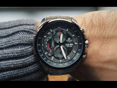 CASIO EDIFICE EF-558D-1AV Review | Bang for the buck (видео)