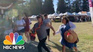 Gunfire Sends Crowd Running At Garlic Festival In Gilroy, California | NBC News