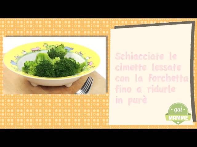 Semolino di riso con broccoli