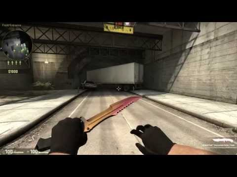 Huntsman Knife Fade CSGO StatTrak  Huntsman Knife