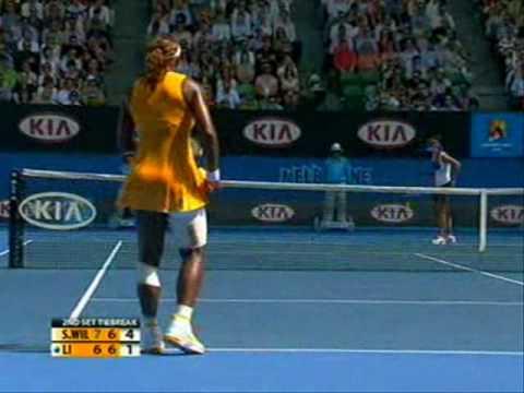 Li Na se enfrenta a Serena Williams (2010)