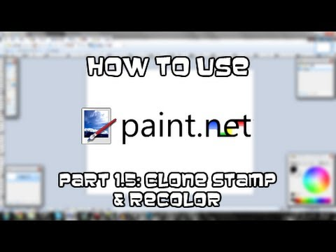 Tutorial | How to use paint.NET - Part 1.5: Clone Stamp & Recolor