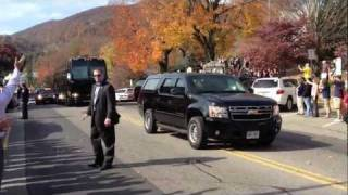 Boone (NC) United States  City new picture : President Obama Motorcade in Downtown Boone NC