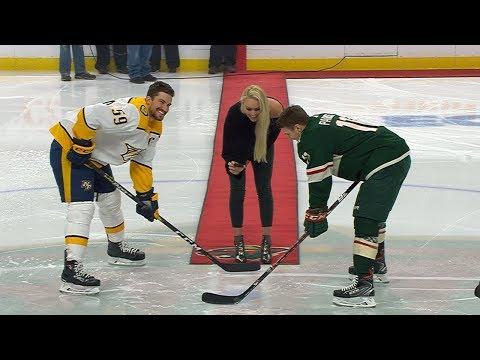 Lindsey Vonn drops the puck before Wild take on Predators