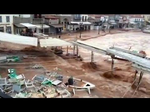 Ελλάδα: «Βούλιαξε» η Ύδρα από την νεροποντή