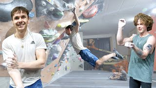 Can't believe Fredrik did that move! Then he walks over to 8B/V13 problem by Eric Karlsson Bouldering
